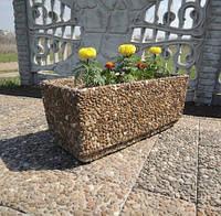 Вазон садовый уличный «Фрегат» бетонный Галька коричневая