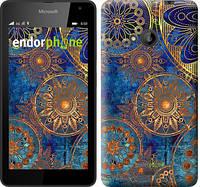 """Чехол на Microsoft Lumia 535 Золотой узор """"678u-130"""""""