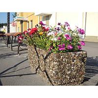 Вазон садовый уличный «Фрегат» бетонный Мрамор серый
