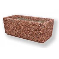 Вазон садовый уличный «Фрегат» бетонный Мрамор кремовый