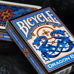 Карты игральные | Bicycle Dragon Back Cards (Blue)