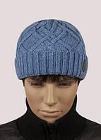 Мужская вязаная шапка - MH-391 деним