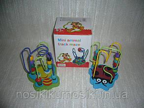Деревянные игрушки Лабиринт на проволоке 2 вида