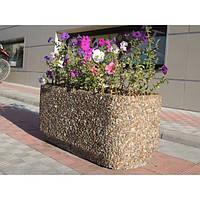 Вазон садовый уличный «Атлант» бетонный Галька коричневая