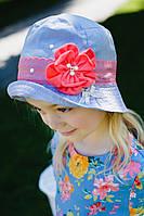 """Летняя шапочка для девочки """"Джина"""" Код:5166"""