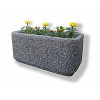 Вазон садовый уличный «Атлант» бетонный Мрамор серый