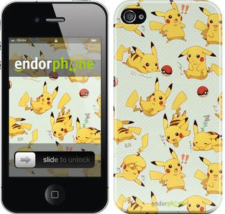 """Чехол на iPhone 4s Pikachu pokemon go """"3769c-12"""""""