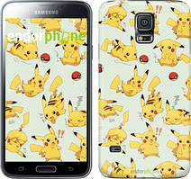 "Чехол на Samsung Galaxy S5 Duos SM G900FD Pikachu pokemon go ""3769c-62"""