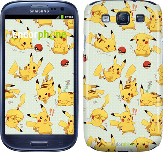 "Чехол на Samsung Galaxy S3 Duos I9300i Pikachu pokemon go ""3769c-50"""