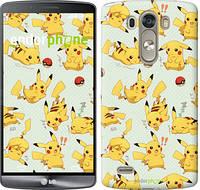 "Чехол на LG G3 dual D856 Pikachu pokemon go ""3769c-56"""