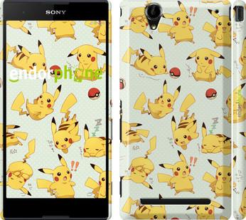 "Чехол на Sony Xperia T2 Ultra Dual D5322 Pikachu pokemon go ""3769c-92"""