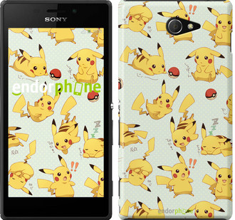 "Чехол на Sony Xperia M2 dual D2302 Pikachu pokemon go ""3769c-61"""