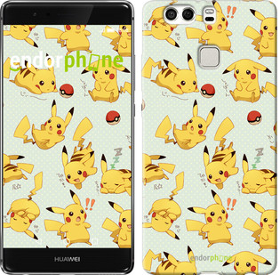 "Чехол на Huawei P9 Plus Pikachu pokemon go ""3769u-300"""