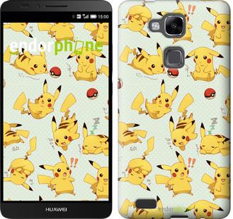 "Чехол на Huawei Ascend Mate 7 MT7-L09 Pikachu pokemon go ""3769u-140"""