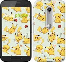 """Чохол на Motorola Moto G3 pokemon Pikachu go """"3769u-318"""""""