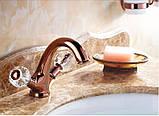 Смеситель кран в ванную комнату для умывальника однорычажный розовое золото, фото 5