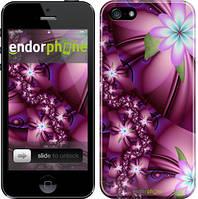 """Чехол на iPhone SE Цветочная мозаика """"1961c-214"""""""