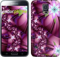 "Чехол на Samsung Galaxy S5 g900h Цветочная мозаика ""1961c-24"""