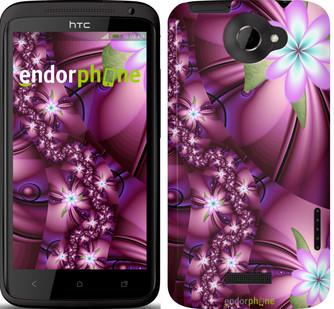"Чохол HTC One X Квіткова мозаїка ""1961c-42"""