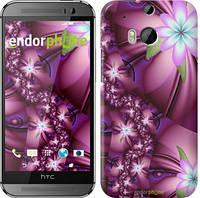 """Чехол на HTC One M8 dual sim Цветочная мозаика """"1961c-55"""""""