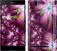"""Чехол на Sony Xperia T2 Ultra Dual D5322 Цветочная мозаика """"1961c-92"""""""