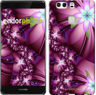 """Чехол на Huawei P9 Plus Цветочная мозаика """"1961u-300"""""""
