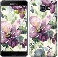 """Чехол на Samsung Galaxy A5 (2016) A510F Цветы акварелью """"2237c-158"""""""