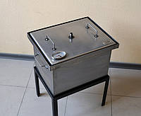 Коптильня для горячего копчения с термометром 400х300х280