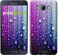 "Чехол на Samsung Galaxy J7 (2016) J710F Капли воды ""3351c-263"""