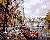 Рисование по номерам 40×50 см. Париж Художник Елена Бартенева