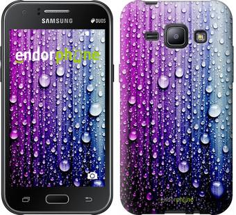 "Чехол на Samsung Galaxy J1 J100H Капли воды ""3351c-104"""