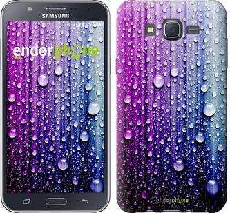 "Чехол на Samsung Galaxy J7 J700H Капли воды ""3351c-101"""