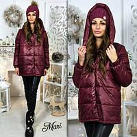 Женская стильная зимняя курточка