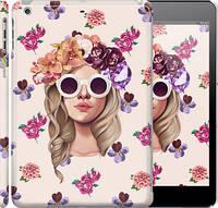 """Чехол на iPad 5 (Air) Девушка с цветами v2 """"3569c-26"""""""