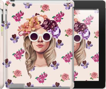 """Чехол на iPad 2/3/4 Девушка с цветами v2 """"3569c-25"""""""