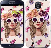 """Чохол на Samsung Galaxy S4 i9500 Дівчина з квітами v2 """"3569c-13"""""""