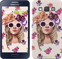 """Чохол на Samsung Galaxy A3 A300H Дівчина з квітами v2 """"3569c-72"""""""