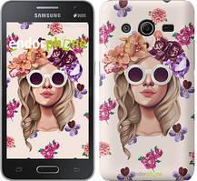 "Чохол на Samsung Galaxy Core 2 G355 Дівчина з квітами v2 ""3569c-75"""