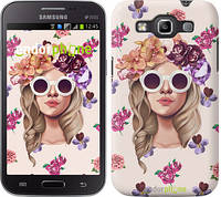 "Чехол на Samsung Galaxy Win i8552 Девушка с цветами v2 ""3569c-51"""