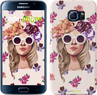 "Чехол на Samsung Galaxy Star Plus S7262 Девушка с цветами v2 ""3569u-360"""