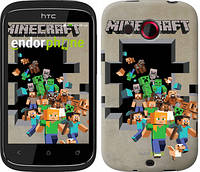 "Чехол на HTC Desire C A320e Minecraft 6 ""3330u-225"""