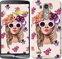"""Чохол на LG G3 D855 Дівчина з квітами v2 """"3569c-47"""""""