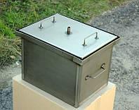 Домашняя коптильня горячего копчения с гидрозатвором 400х300х280