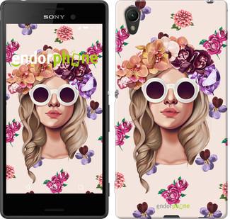 "Чехол на Sony Xperia XA Девушка с цветами v2 ""3569c-399"""