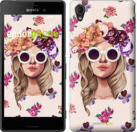 "Чехол на Sony Xperia M4 Aqua Девушка с цветами v2 ""3569c-162"""