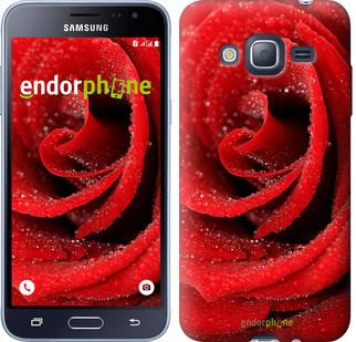 "Чехол на Samsung Galaxy J3 Duos (2016) J320H Красная роза ""529c-265"""