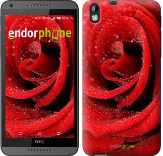 "Чехол на HTC Desire 816 Красная роза ""529u-169"""