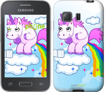 "Чехол на Samsung Galaxy Young 2 G130h Единорожка ""3796u-206"""