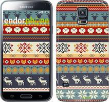 """Чехол на Samsung Galaxy S5 Duos SM G900FD Рождественский орнамент """"3303c-62"""""""