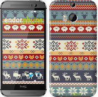 """Чохол на HTC One M8 Різдвяний орнамент """"3303c-30"""""""